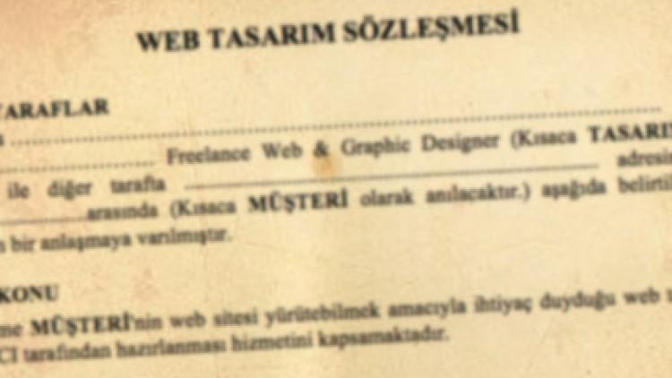 Serbest Tasarımcılar için Web Tasarım Sözleşmesi