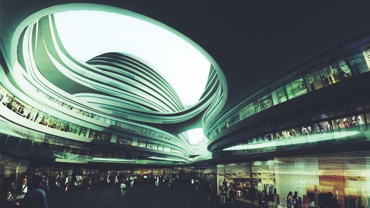 Pekin'deki Galaxy Soho iş merkezi